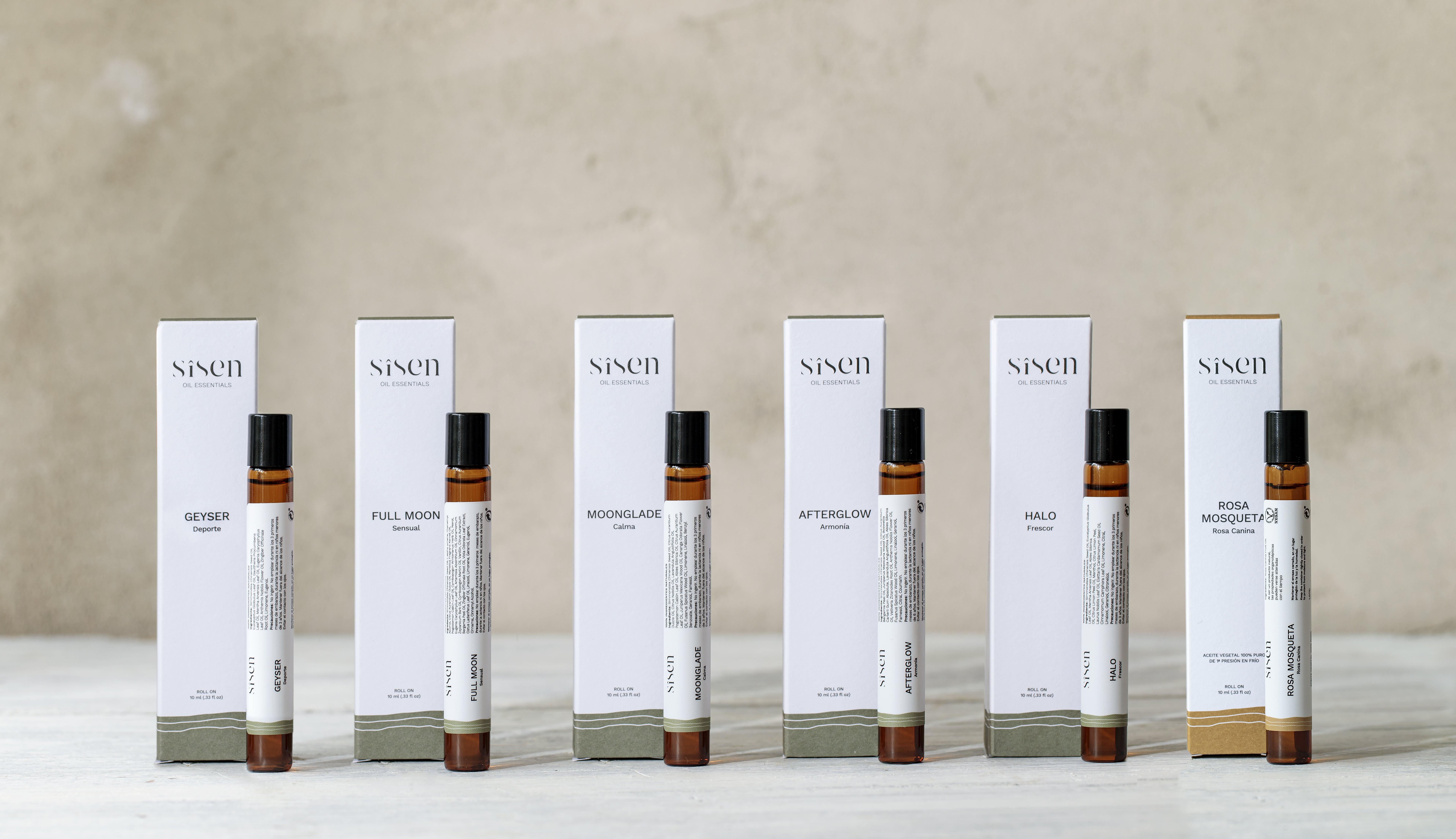 roll-on de aromaterapia Sisen para la piel