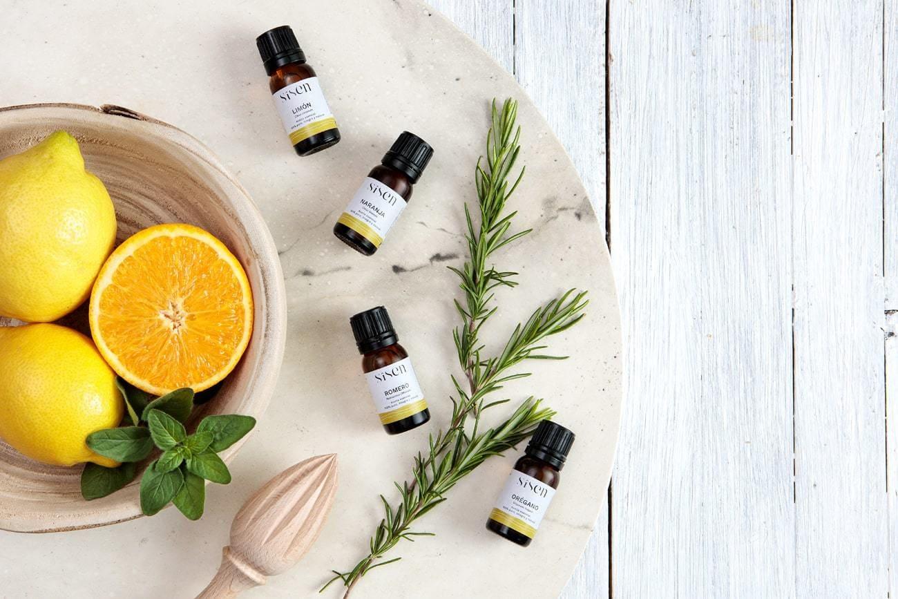 aceite esencial de limon naranja romero y oregano